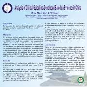 Analysis of clinical guidelines developed based on evidence in China